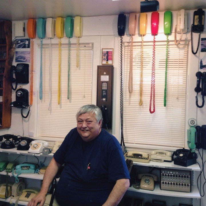 Owner Dave of the Telephone Museum of PEI