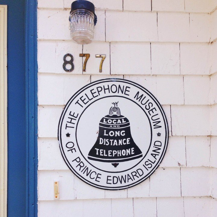 Telephone Museum of PEI sign