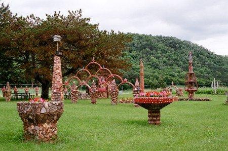 View into Prairie Moon Sculpture Garden 2