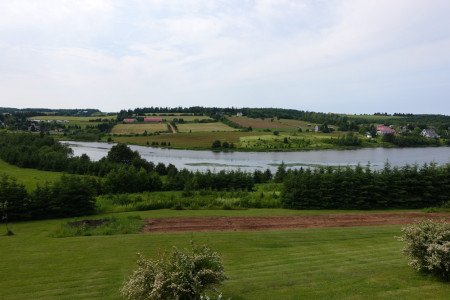 The banks of the River Clyde in New Glasgow, PEI